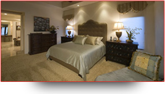 Photo of a well decorated bedroom to show residential electrical services
