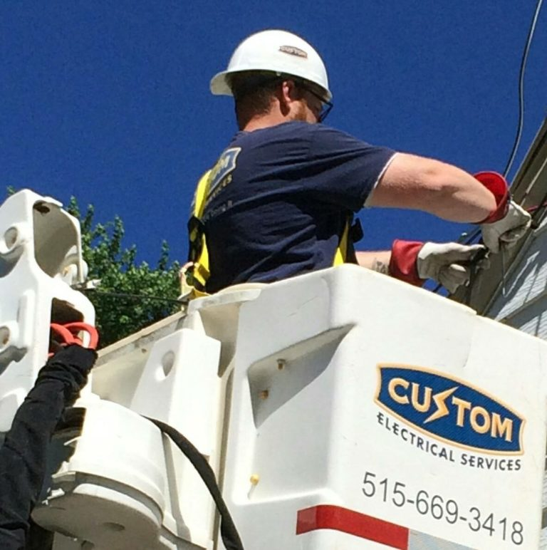 Bucket Truck Services by Custom Electrical Services in Iowa